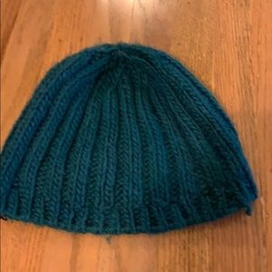 Urban outfitters turquoise ribbed beanie